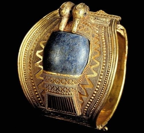 Bracelet Of Ramesses II One Of Two Rigid Gold