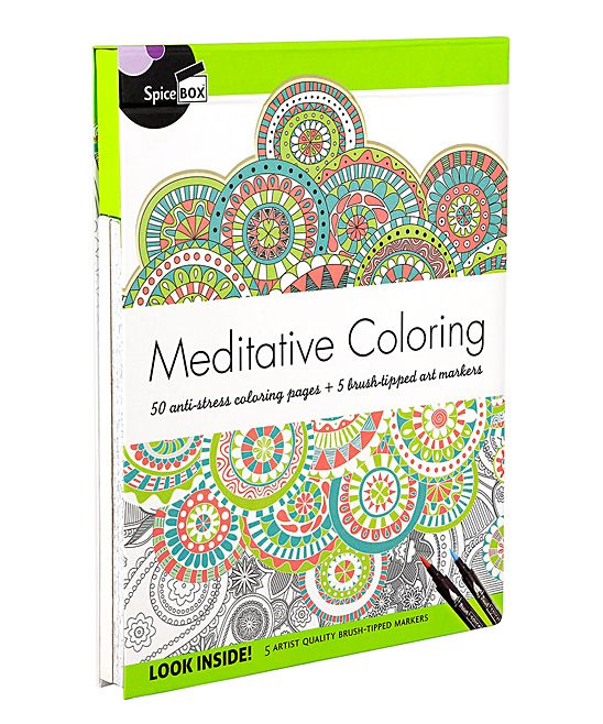 Art Therapy Meditative Coloring Kit Meditative Coloring