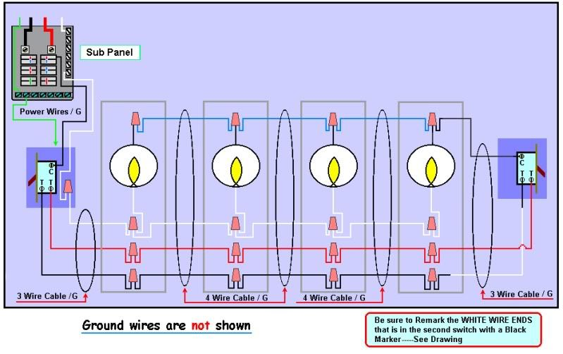 wiring 3 way switch 4 lights diagram schematic wiring diagrams u2022 rh detox design co wiring a 3 way switch for multiple lights wiring a 3 way switch for lights