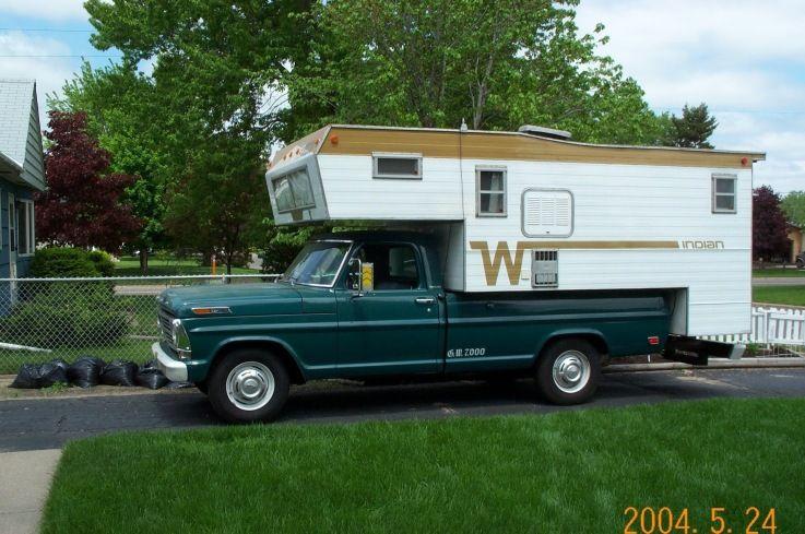 Truck Campers 1974 Winnebago Indian 10 5 Truck Camper Truck