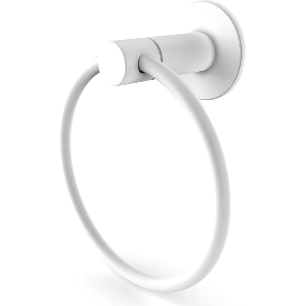 Allied Brass Ft 16 Whm Foxtrot Matte White Towel Rings Bathroom Accessories Efaucets Com Towel Ring Bathroom White Bathroom Accessories Allied Brass
