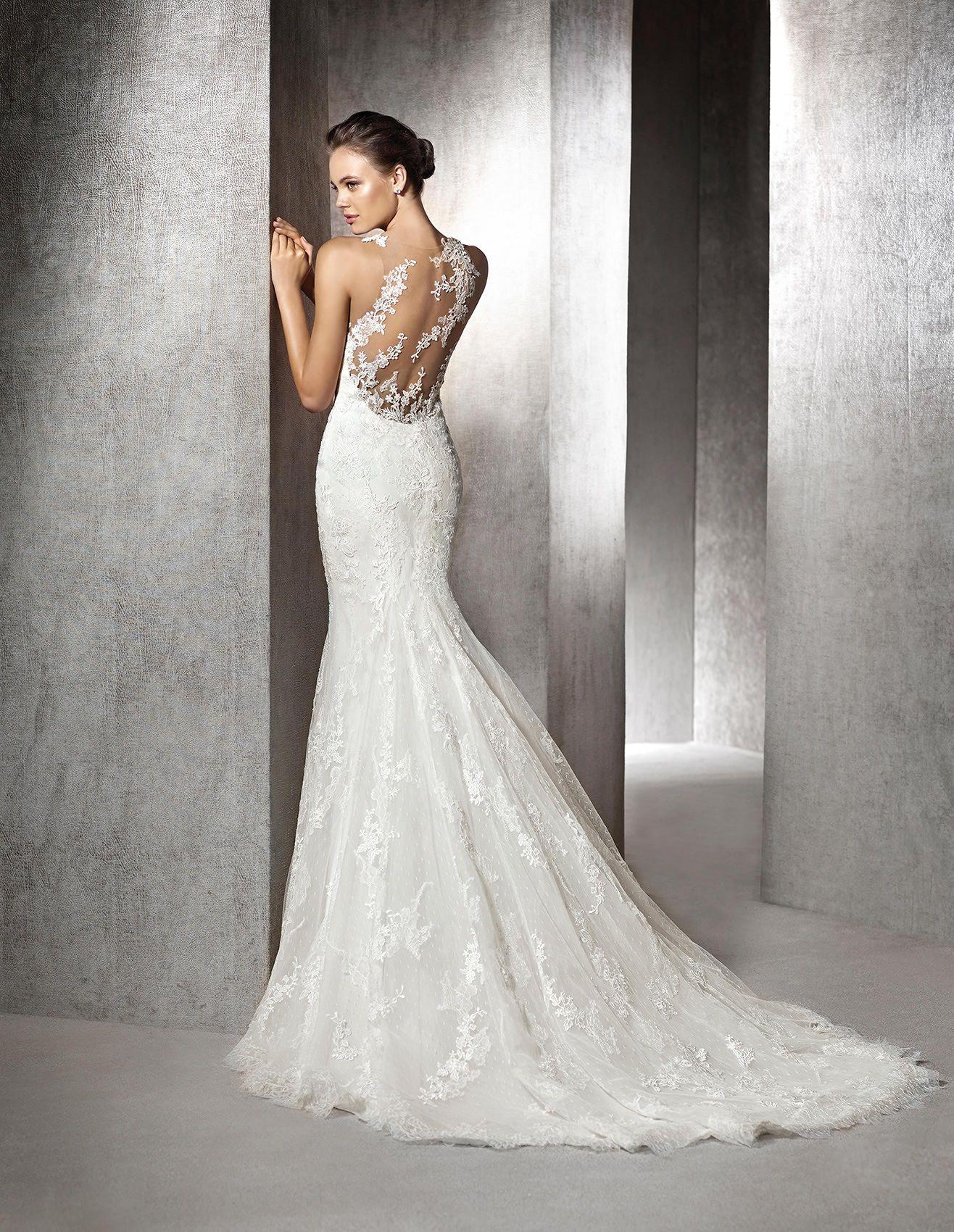 zulima brautkleid im meerjungfrau stil aus spitze st patrick wedding pinterest. Black Bedroom Furniture Sets. Home Design Ideas