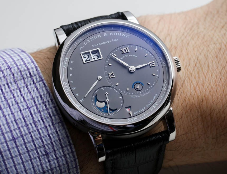 A Lange \ Söhne Lange 1 Tourbillon Perpetual Calendar Watch Hands - how to make a perpetual calendar