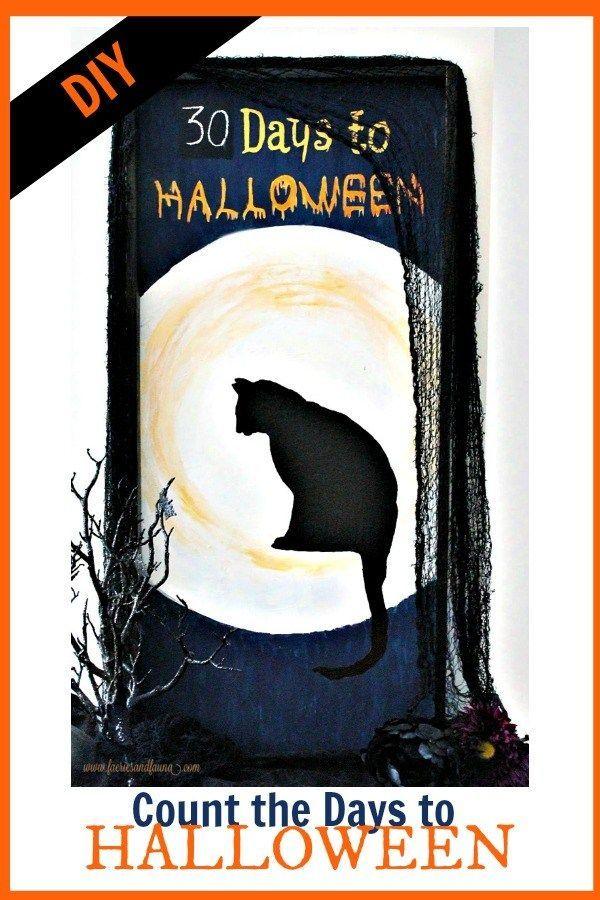 Black Cat Halloween Countdown Decor Halloween DIY Projects