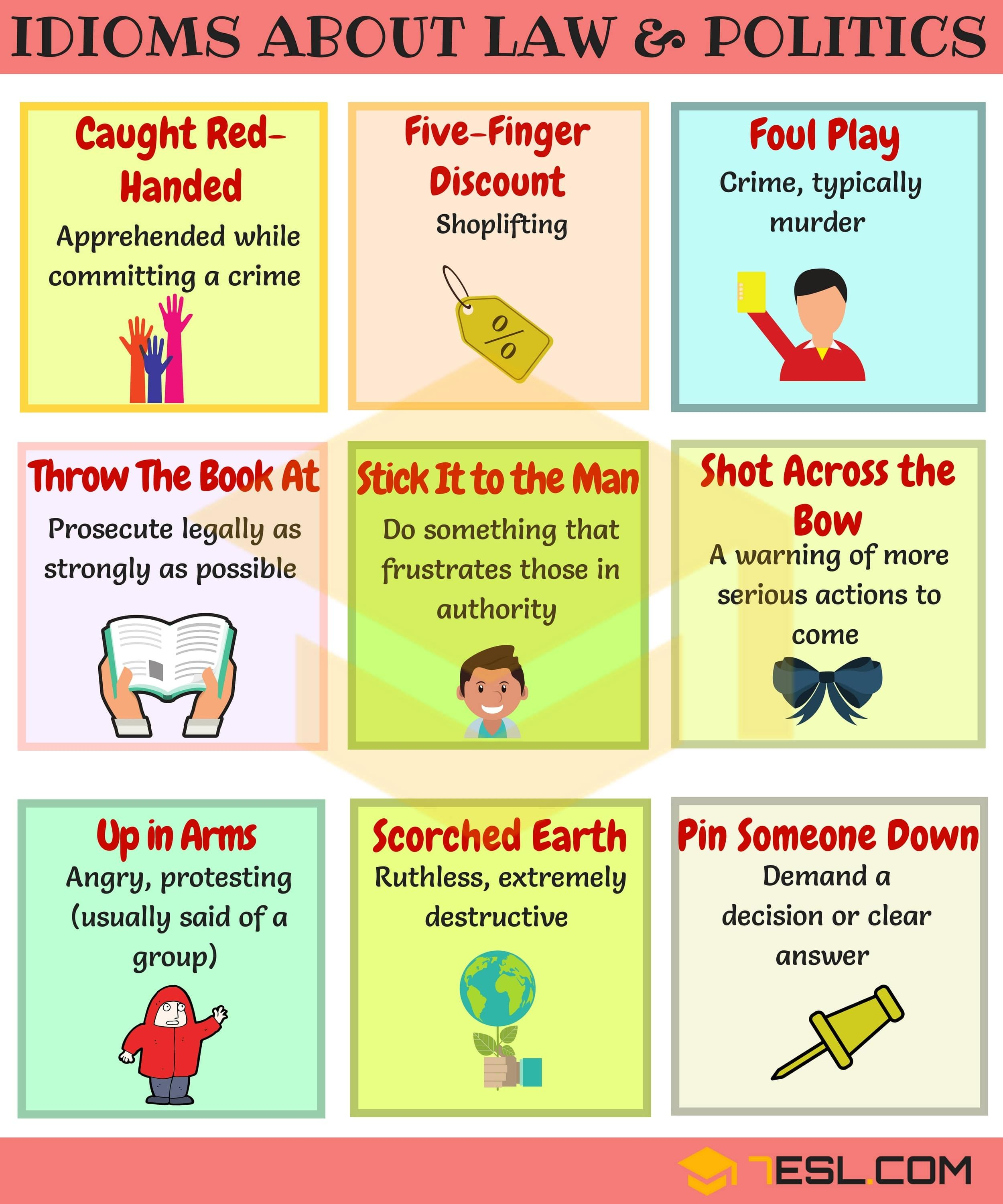 Useful Phrases Amp Idioms About Politics Crime Police And
