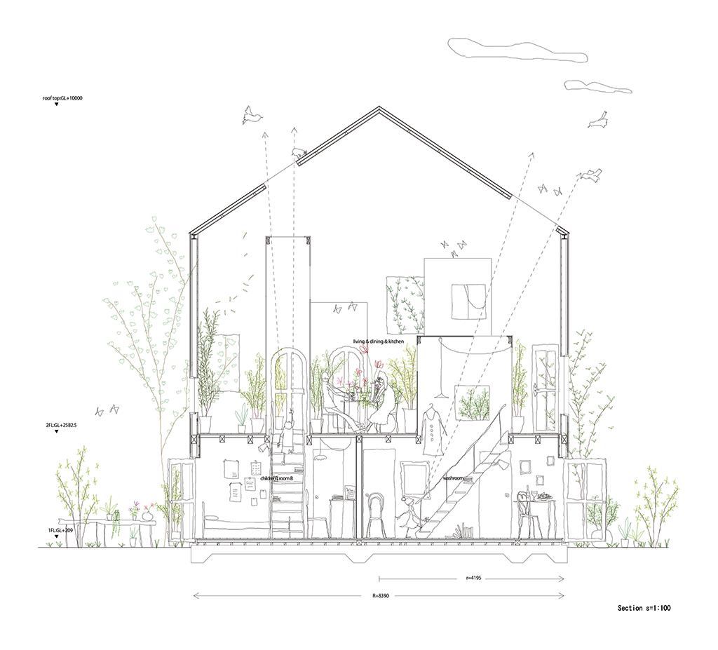Architecture Drawing Png sección. imagen cortesía de studio velocity. señala encima de la
