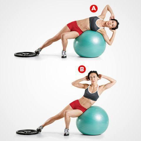 Stability Exercise Ball Exercises: 20 Super-Effective Workouts Moves - Lazy Monk