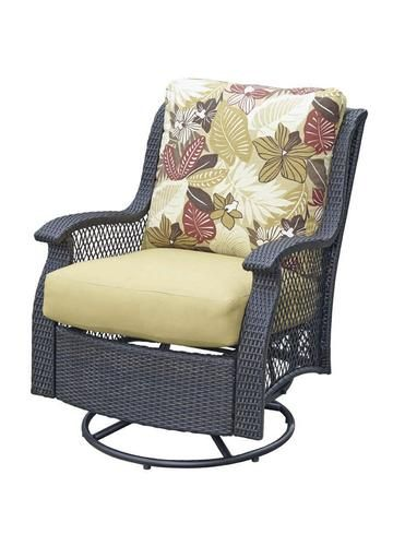 Backyard Creations San Paulo Swivel Glider At Menards Patio Chairs Backyard Creations Outdoor Chairs