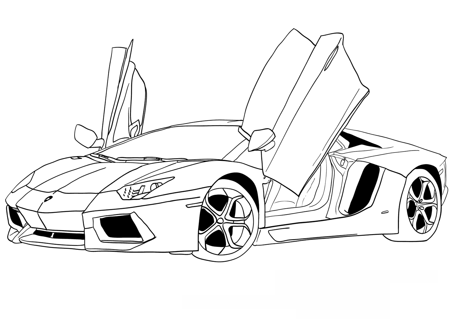 Ausmalbilder Lamborghini Gallardo Cars Coloring Pages Truck Coloring Pages Race Car Coloring Pages