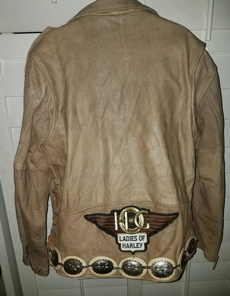 Ladies Of Harley Custom Leather Motorcycle Jacket Collectibles