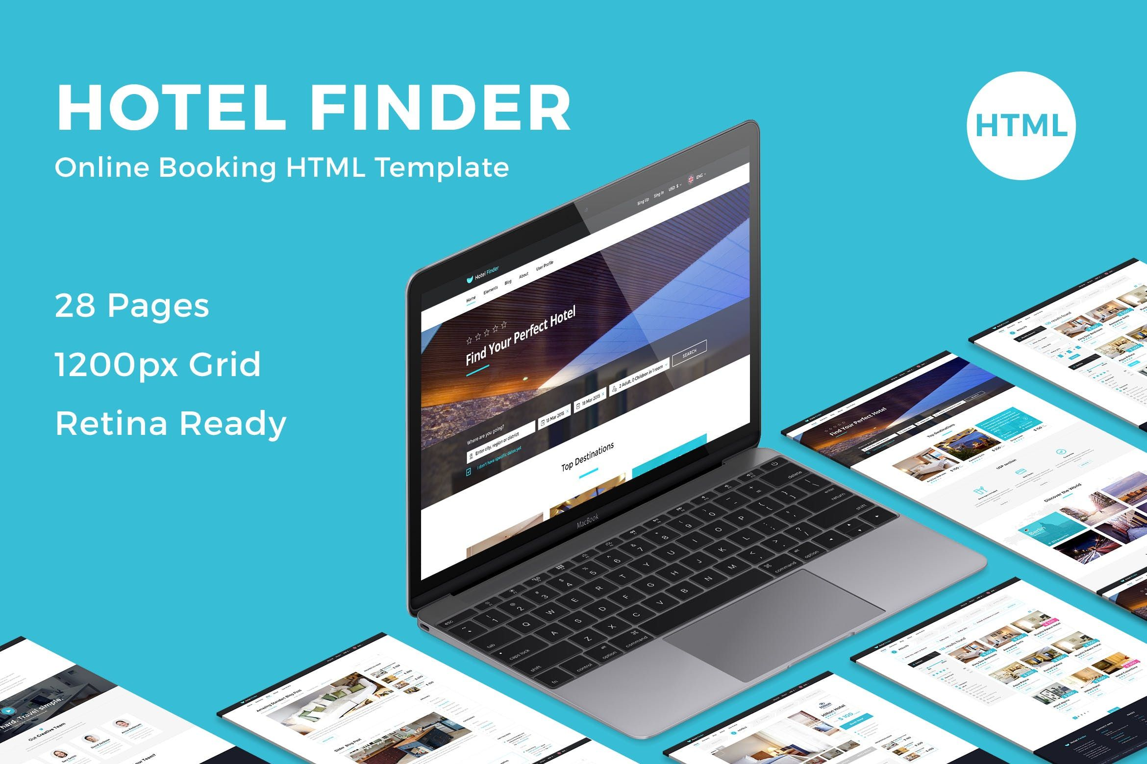 Hotel Finder Online Booking Html Website Templat Apartment