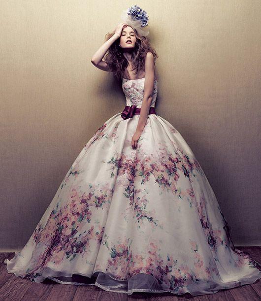 Floral Print Lace Wedding Dress From Novias De Espana
