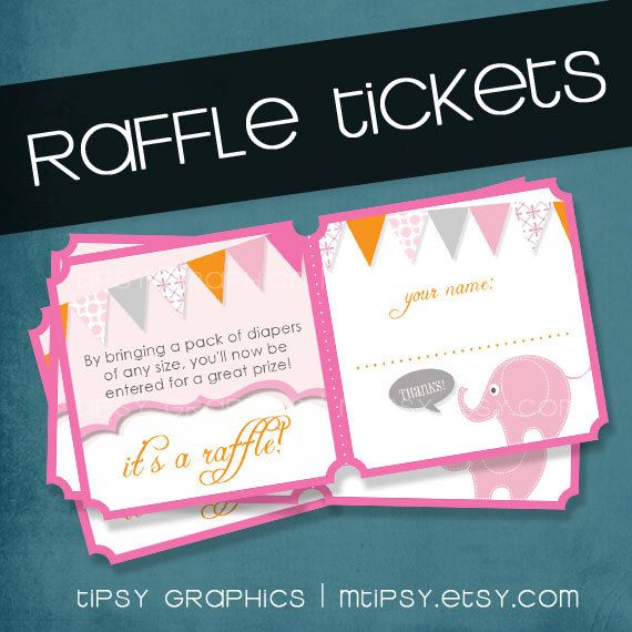 tipsy graphics add on printable diy raffle tickets to coordinate