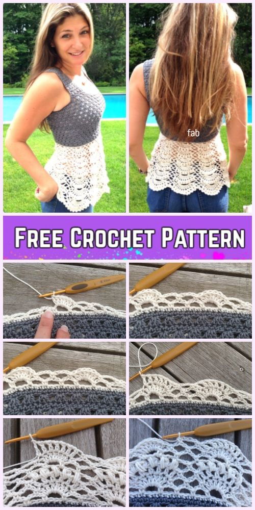 Crochet Ballerina Lace Top Free Crochet Pattern for Ladies #crochetclothes