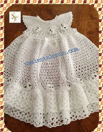 Image Result For Free Crochet Christening Gown Doll Clothes