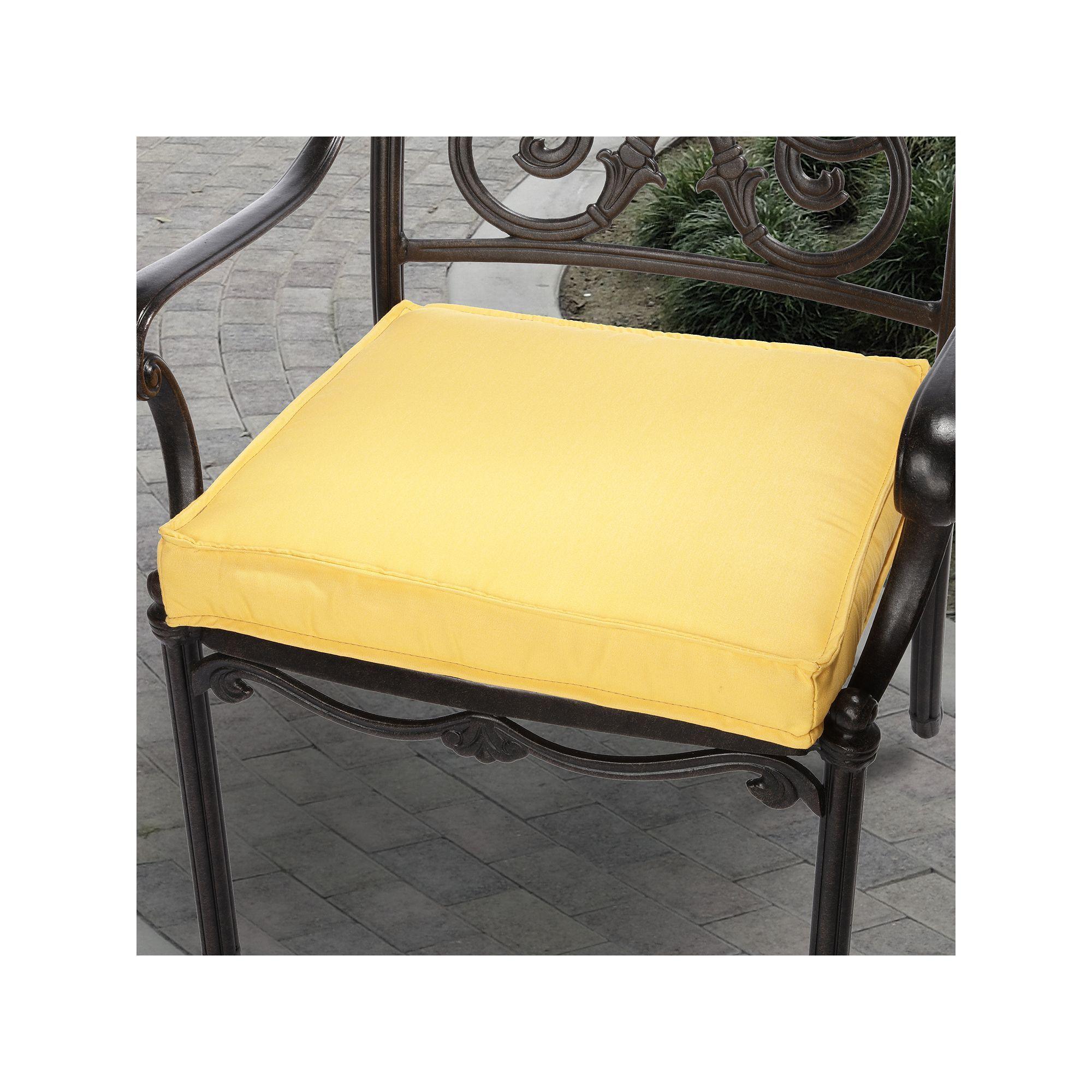Canvas Outdoor Chair Cushion, Yellow