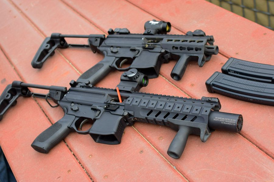 mpx k top and mpx with sound suppressor photo by jim grant