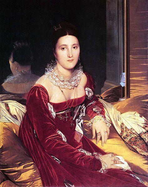 Portrait De Madame De Senonnes France Ca 1814 By Jean Auguste