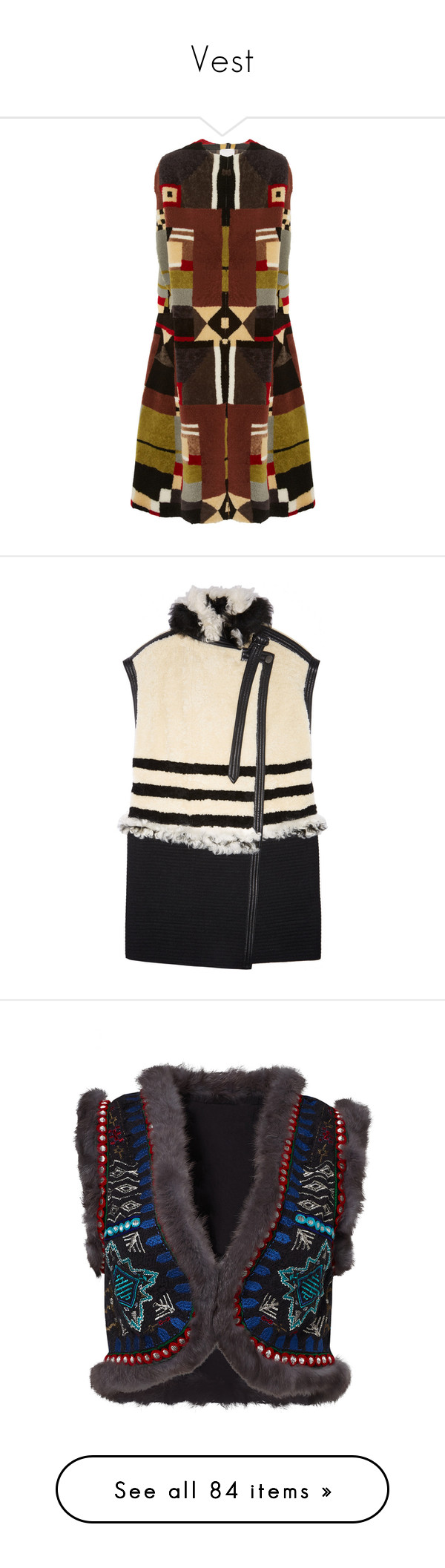 """""""Vest"""" by laumariborche on Polyvore featuring outerwear, coats, dresses, jackets, valentino, long, red, shearling cape, long cape coats y long red cape"""