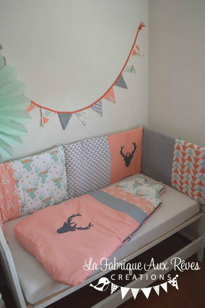 Chambre Bébé Fille Orange | Chambre Enfant Fille Avec Lit Gigogne ...