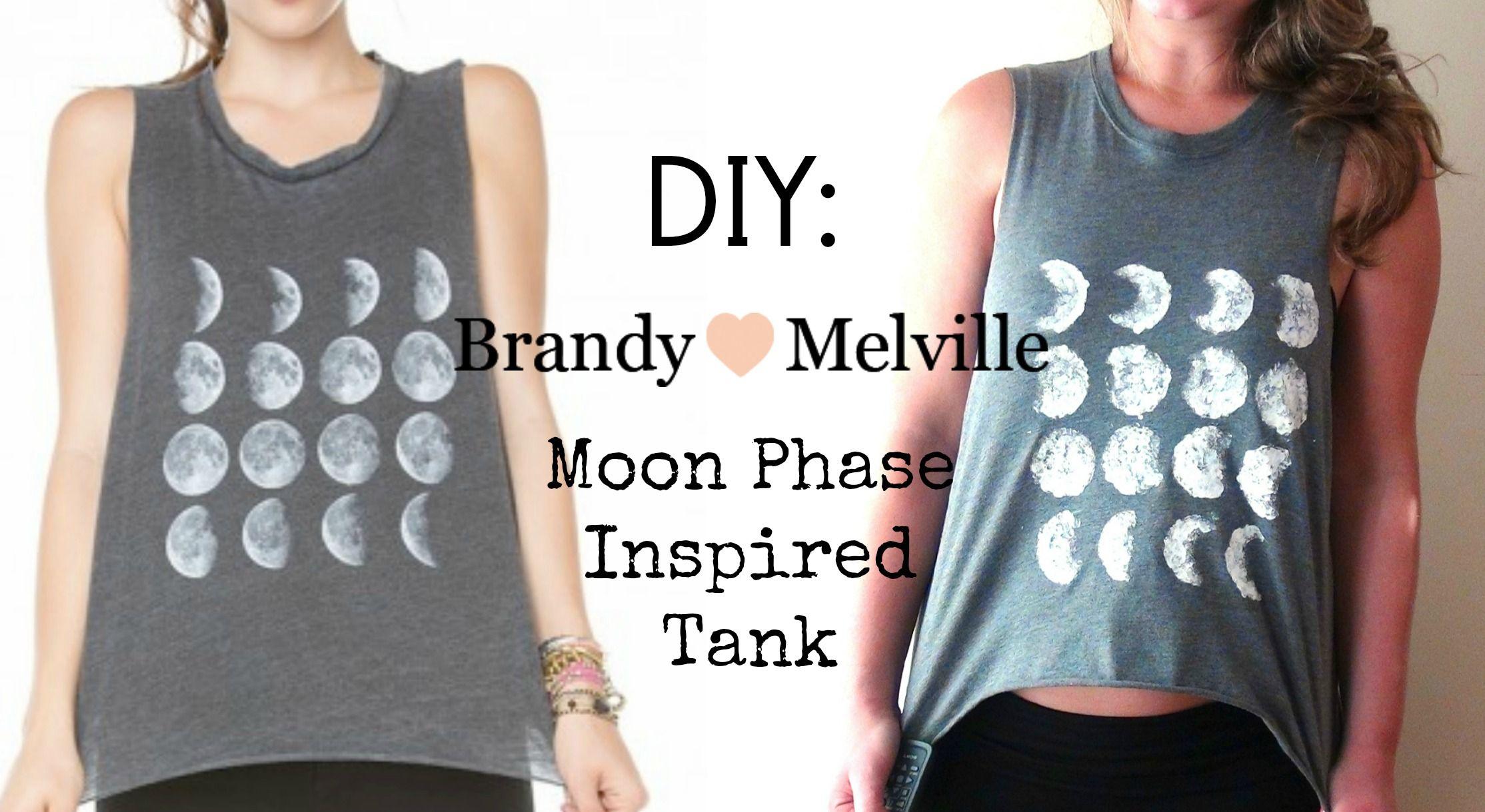 Diy Brandy Melville Inspired Moon Phase Tank Diy Fashion Diy
