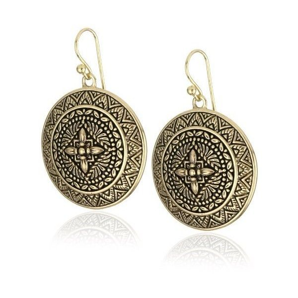 """Bronzed by Barse """"Mayan"""" Round Dangle Earrings ... endless.com"""