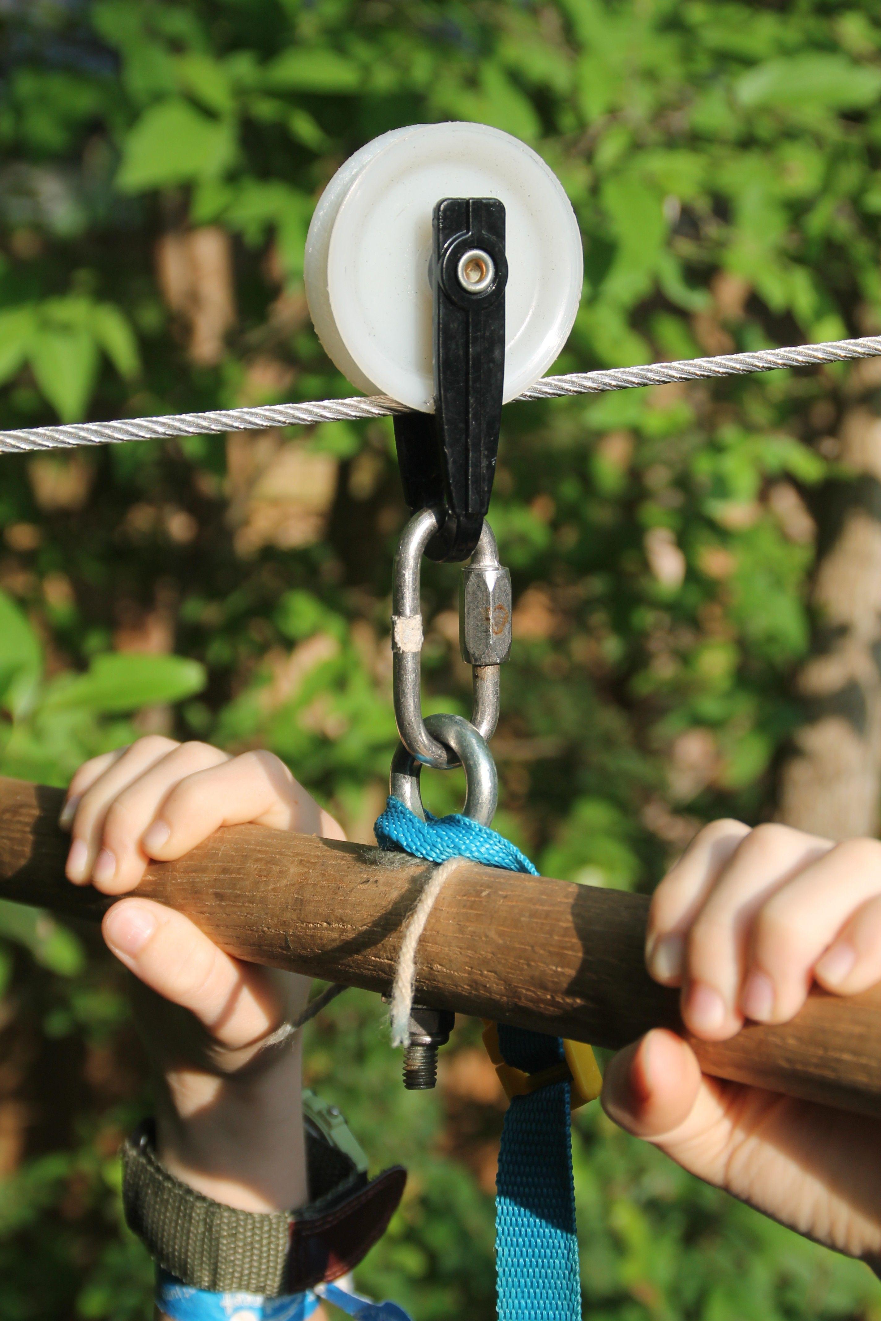 Backyard Zip-Line for Kids | Backyard for kids, Zip line ...