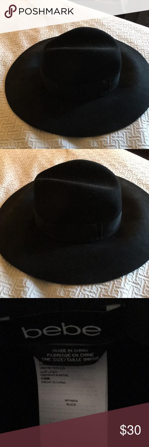 2a76245c0 Bebe Fedora Hat Nick Frouquet Stlyed Ladies Fedora Hat. Worn Several ...