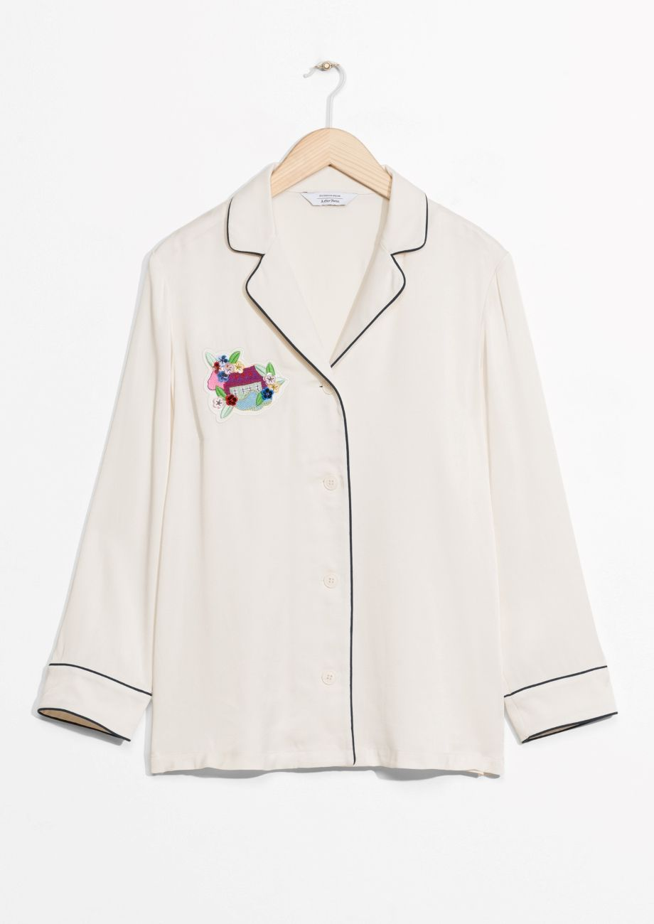 & Other Stories image 1 of Buttoned Blouse in Off white