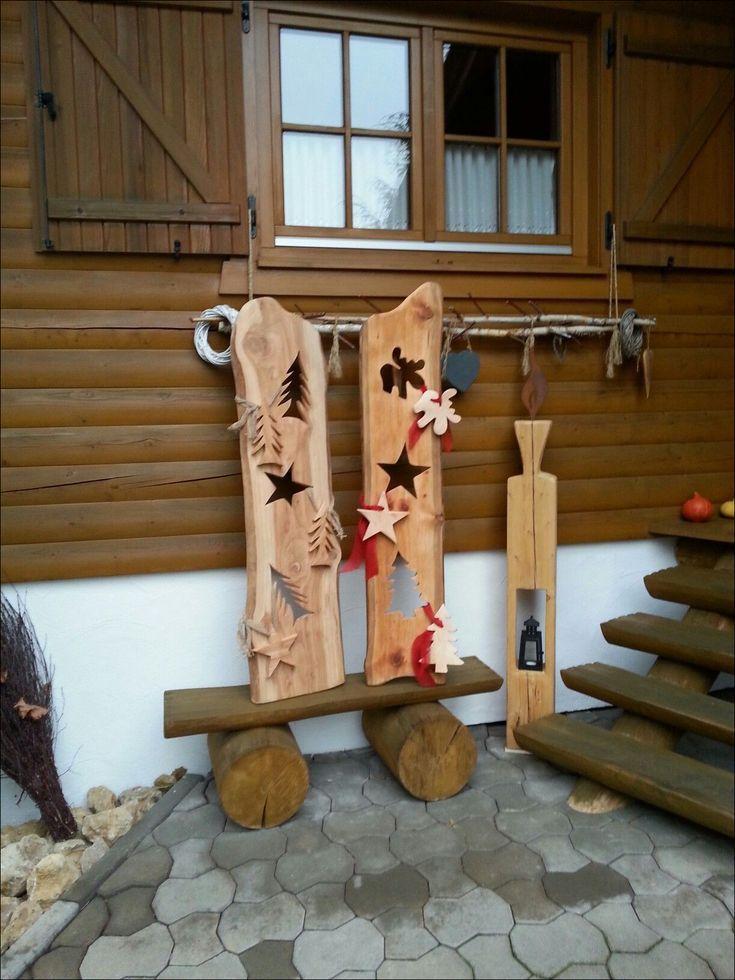 Awesome Wood Deco Christmas Do It Yourself Models - VORTEILES.DE   Weih ...  - Weihnachtsdeko draussen ☃️ -