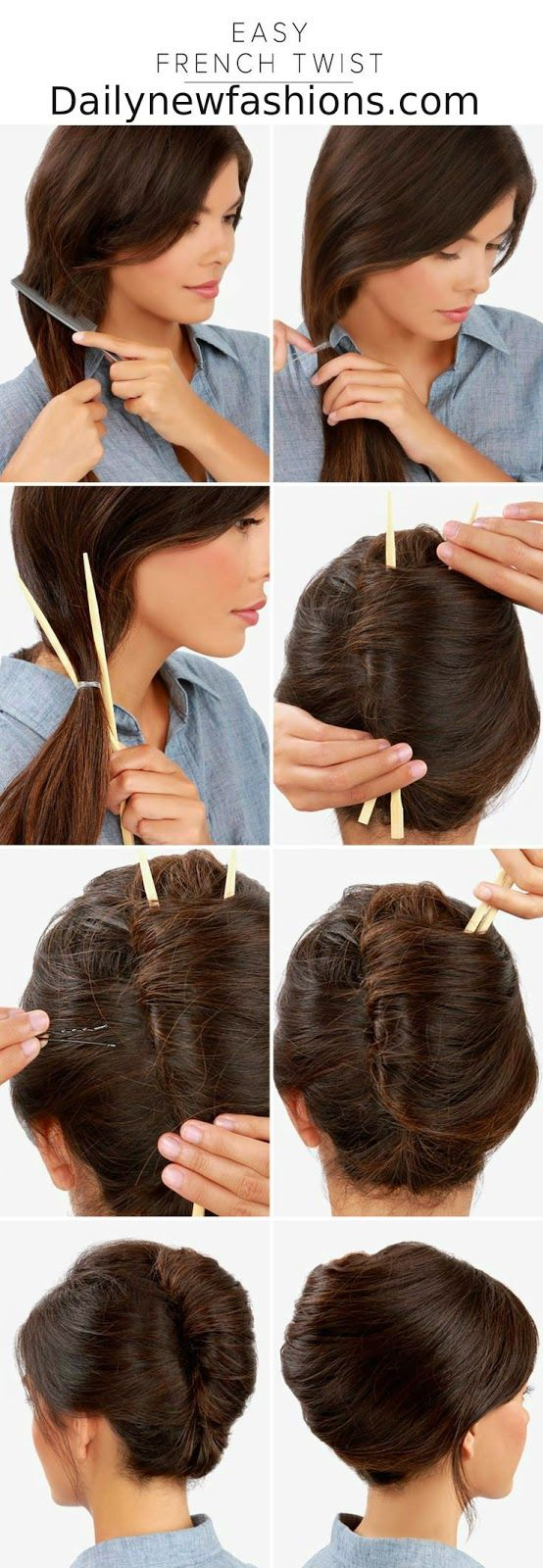 Easy french twist hair style ideas pinterest easy french twist