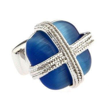 Blue Square Opal Cufflinks150004