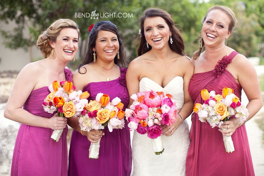Bendthelightblog Wp Content Uploads 2012 10 12 Different Shades Of Fuschia Pink Maroon Wedding Colors Color Scheme Groomsman Bridesm