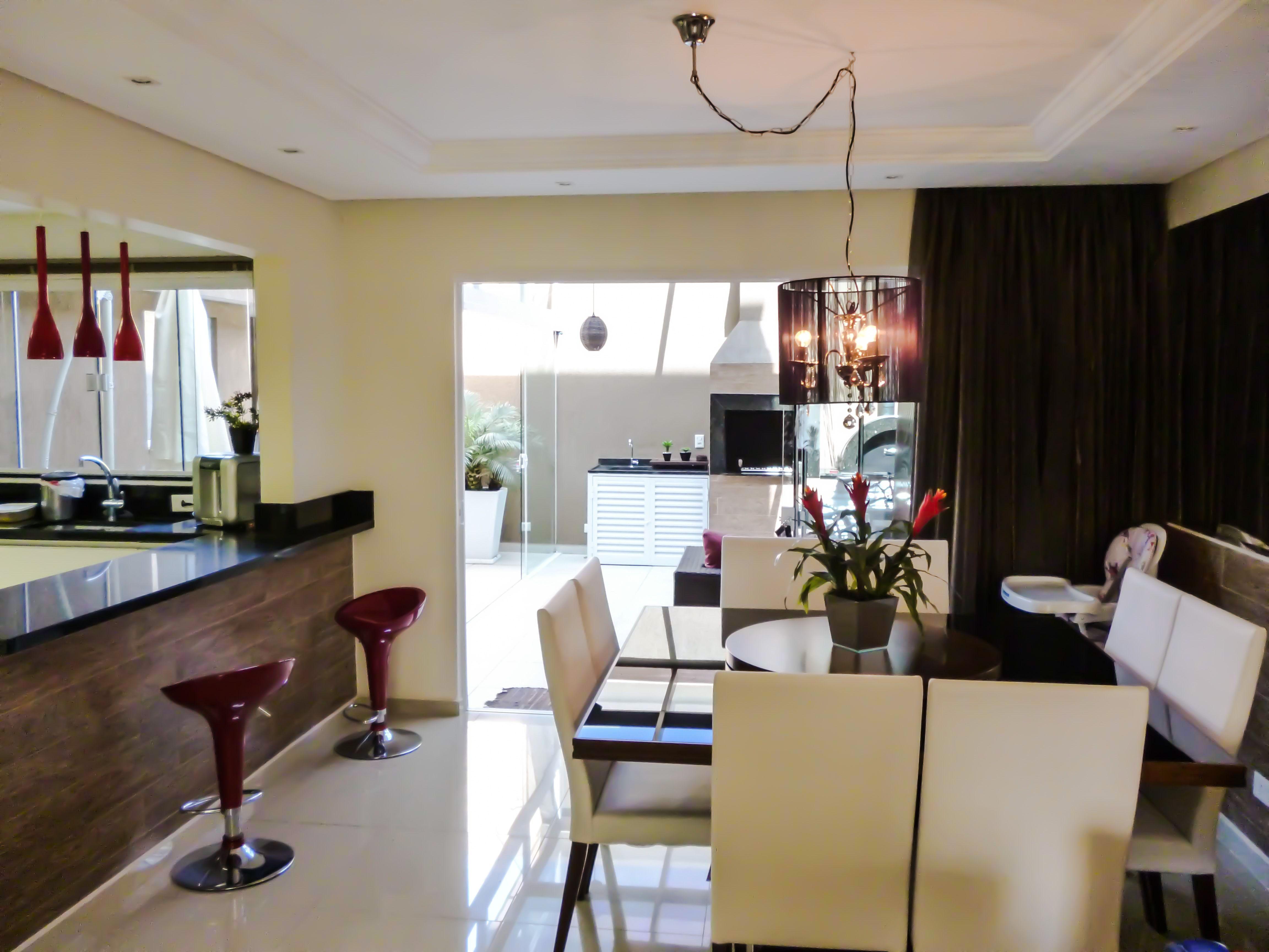 Projeto De Interiores Salas De Jantar E Estar Integradas A Cozinha  -> Divisor Sala E Cozinha