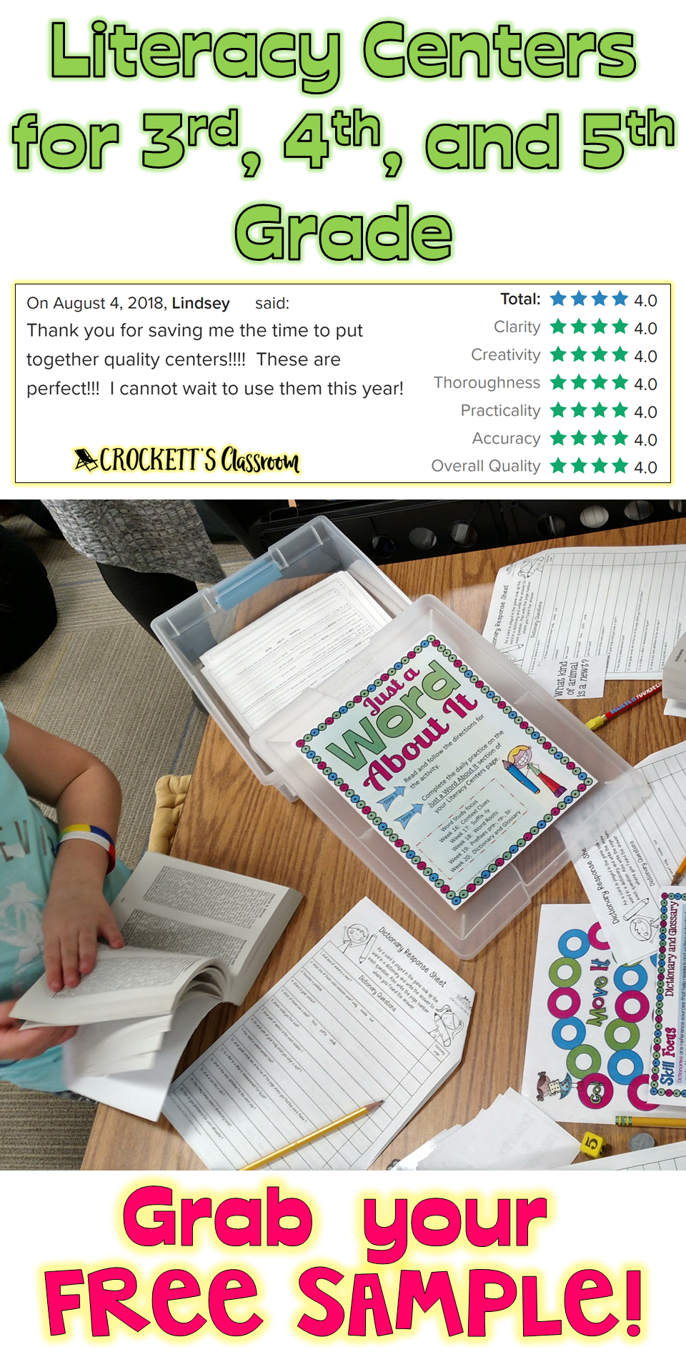 small resolution of You've got to check these out! Literacy centers created with 3rd