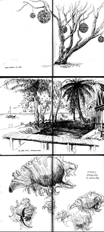 A peek inside German Illustrator Christina Leist's Paperblanks journal
