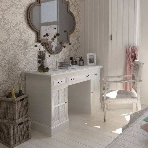 klassischer schreibtisch bueromoebel sekretaer shabby chic schraenke schubfaecher schreibtische. Black Bedroom Furniture Sets. Home Design Ideas
