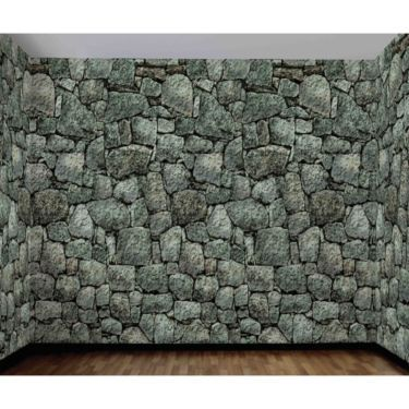 Buy Dungeon Stone Wall Scene Setter and other Party Decorations - halloween scene setters decorations