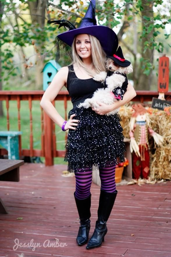 A Cute Witch Costume For Dogs Costumemodels Com Cute Witch Costume Homemade Witch Costume Witch Halloween Costume