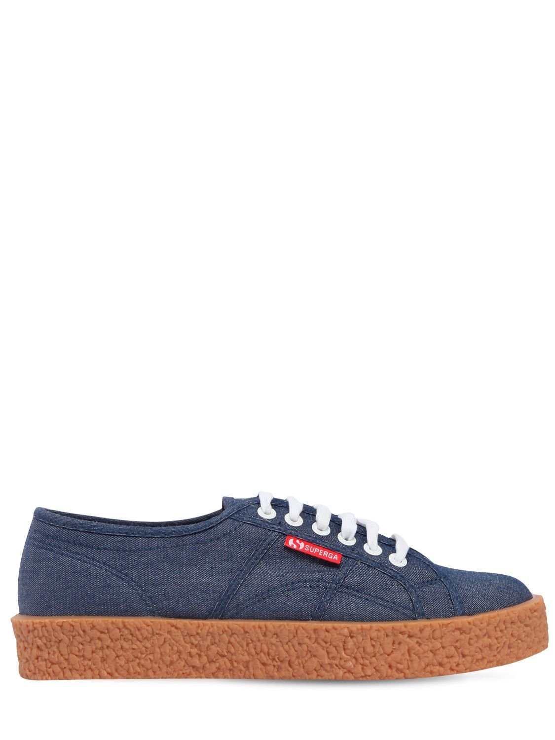 Superga 34MM MEGA PAURA COTTON DENIM SNEAKERS ZUy9ZN