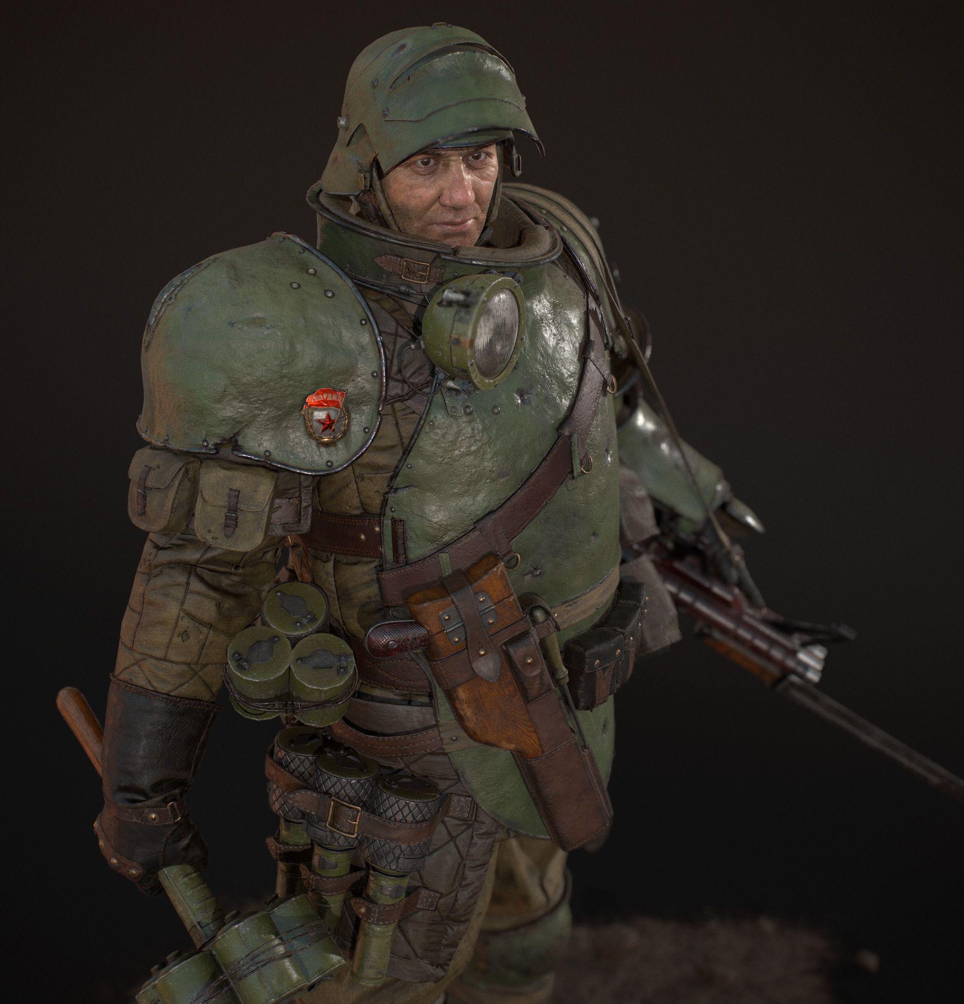 Dieselpunk Soldier ArtStation - RKKA Shoc...
