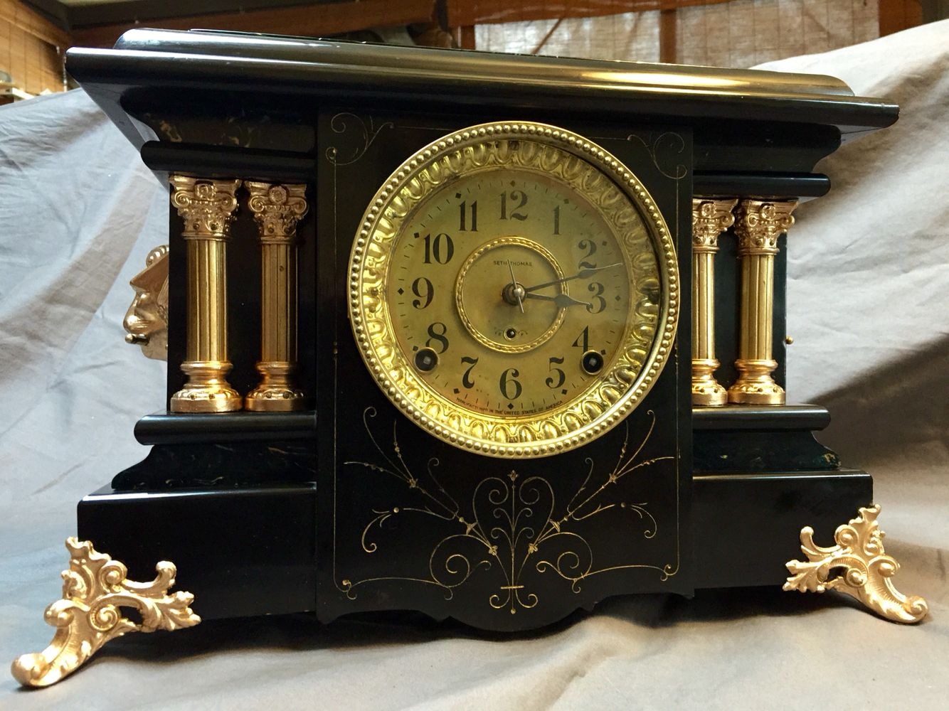 100 Years Old Seth Thomas Mantle Clock Super Fantastic Sold On Ebay Mantle Clock Clock Antique Clocks