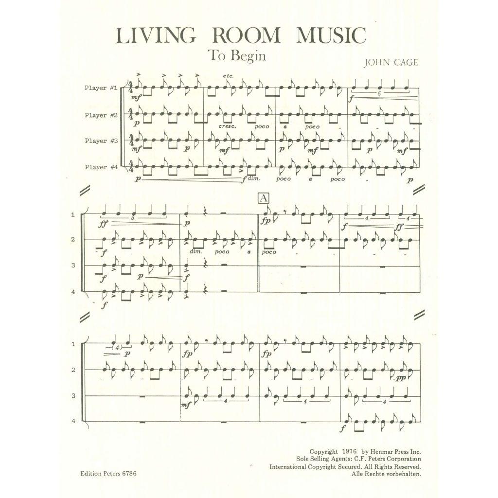 Living Room Music Music John Cage Living Room