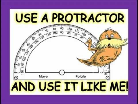 USING a PROTRACTOR SONG by Heath - YouTube good for review, no words, great visuals walking through process 06MTR14LC01
