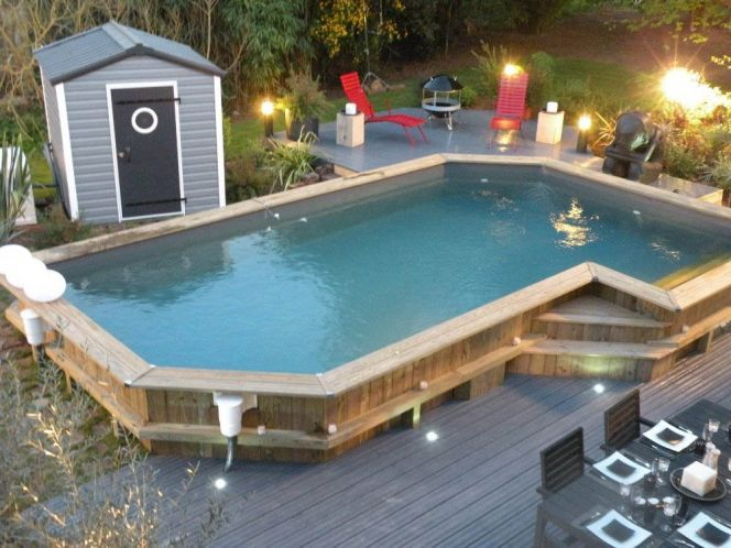 photo des plus belles piscines en bois photos et construction. Black Bedroom Furniture Sets. Home Design Ideas