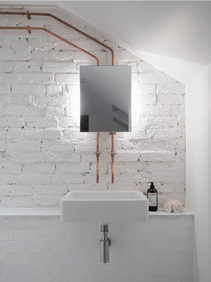I Tubi In Rame Come Elemento D Arredo Bagno In Stile Industriale