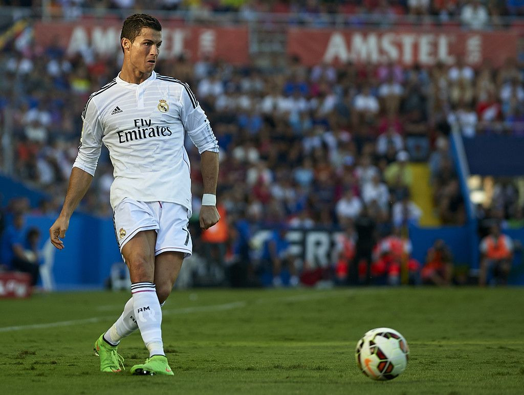 Cristiano Ronaldo of Real Madrid in action during the La