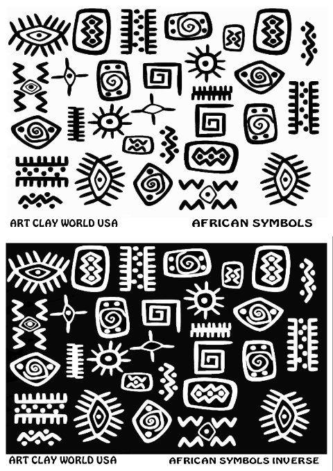 Flexistamps Texture Sheet Set African Symbol Designs Including