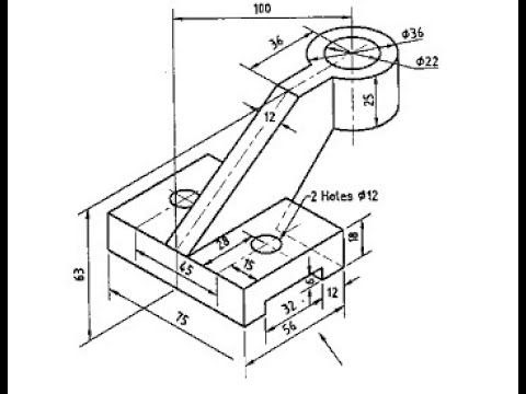 Semi complex solidworks exercises ex ( 4) in 2020 (With