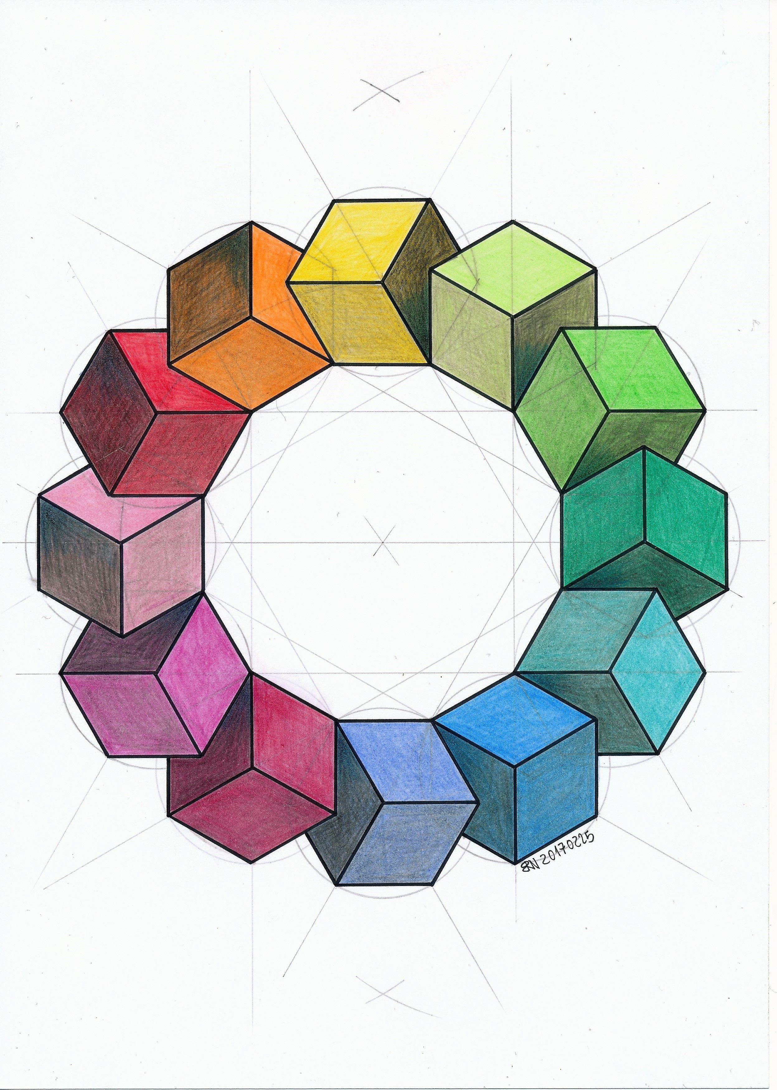Geometry Symmetry Hexagon Cube Mathart Regolo54